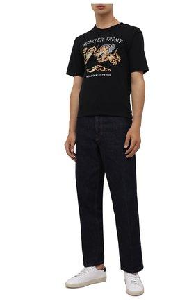 Мужская хлопковая футболка 7 moncler frgmt hiroshi fujiwara MONCLER GENIUS черного цвета, арт. G2-09U-8C000-06-8392B | Фото 2 (Длина (для топов): Стандартные; Рукава: Короткие; Материал внешний: Хлопок; Принт: С принтом; Стили: Гранж)