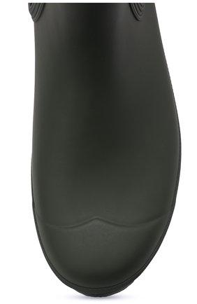 Мужские резиновые сапоги HUNTER хаки цвета, арт. MFS9116RMA | Фото 5 (Материал внутренний: Текстиль; Кросс-КТ: резиновые; Подошва: Плоская; Мужское Кросс-КТ: Сапоги-обувь, Челси-обувь; Материал внешний: Резина)