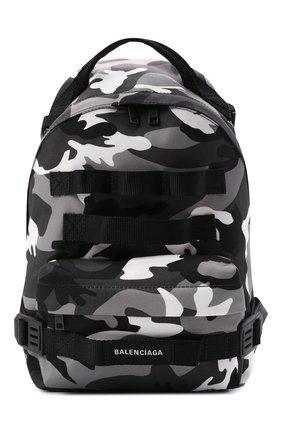 Мужской текстильный рюкзак army BALENCIAGA черного цвета, арт. 644031/2VZH7   Фото 1 (Ремень/цепочка: На ремешке; Материал: Текстиль)