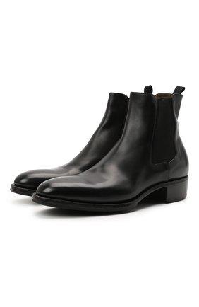 Мужские кожаные челси PREMIATA черного цвета, арт. 31701/B0X BRASS | Фото 1