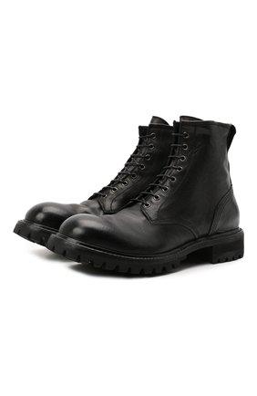 Мужские кожаные ботинки PREMIATA черного цвета, арт. 31925/CHETTA BRASS | Фото 1