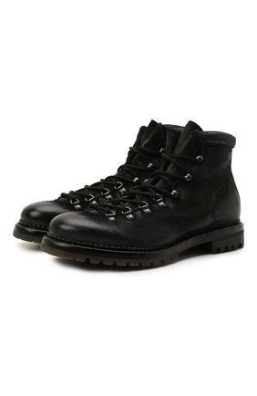 Мужские кожаные ботинки PREMIATA черного цвета, арт. 339P/VINZ | Фото 1
