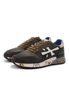 Мужские комбинированные кроссовки mick PREMIATA хаки цвета, арт. MICK/VAR5358 | Фото 1