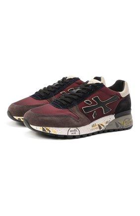 Мужские комбинированные кроссовки mick PREMIATA бордового цвета, арт. MICK/VAR5359 | Фото 1