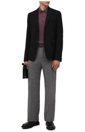 Мужское поло из шерсти и шелка GRAN SASSO фиолетового цвета, арт. 57132/13190 | Фото 2