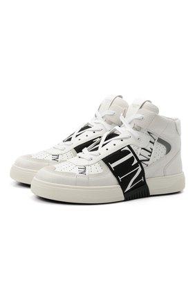 Мужские кожаные кеды vl7n VALENTINO белого цвета, арт. WY2S0E03/WRQ | Фото 1 (Материал внутренний: Натуральная кожа; Подошва: Массивная)