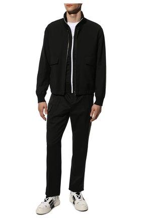 Мужские кожаные кеды vl7n VALENTINO белого цвета, арт. WY2S0E03/WRQ | Фото 2 (Материал внутренний: Натуральная кожа; Подошва: Массивная)