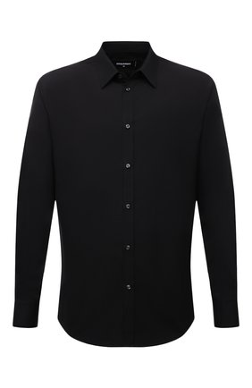 Мужская хлопковая сорочка DSQUARED2 черного цвета, арт. S74DM0542/S36275   Фото 1