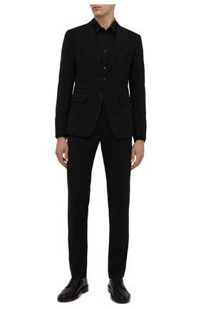 Мужская хлопковая сорочка DSQUARED2 черного цвета, арт. S74DM0542/S36275   Фото 2