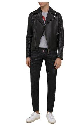 Мужские джинсы DSQUARED2 черного цвета, арт. S71LB0967/S30357   Фото 2