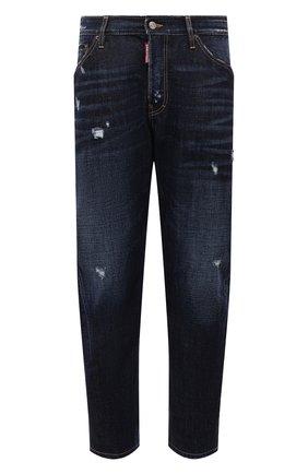 Мужские джинсы DSQUARED2 темно-синего цвета, арт. S74LB1007/S30214 | Фото 1