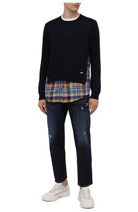 Мужские джинсы DSQUARED2 темно-синего цвета, арт. S74LB1007/S30214 | Фото 2