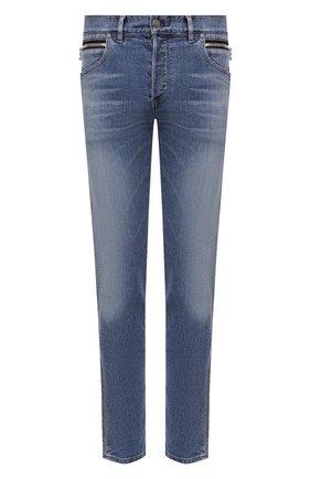 Мужские джинсы BALMAIN голубого цвета, арт. WH1MH030/145D | Фото 1