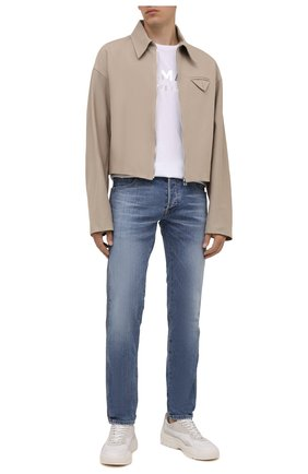 Мужские джинсы BALMAIN голубого цвета, арт. WH1MH030/145D | Фото 2