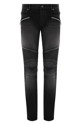 Мужские джинсы BALMAIN темно-серого цвета, арт. WH1MG030/146D | Фото 1