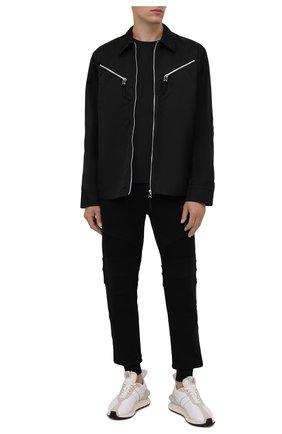 Мужские хлопковые джоггеры BALMAIN черного цвета, арт. WH10B065/271J | Фото 2