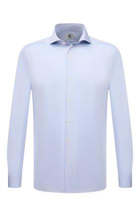 Мужская хлопковая сорочка LUIGI BORRELLI голубого цвета, арт. PS20026/FELICE/ST/EV/PC | Фото 1