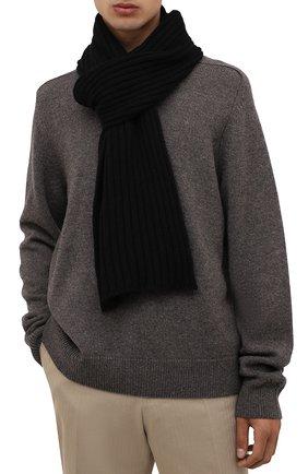 Мужской кашемировый шарф INVERNI черного цвета, арт. 5003 SM   Фото 2
