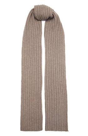 Мужской кашемировый шарф INVERNI темно-бежевого цвета, арт. 5003 SM   Фото 1 (Материал: Шерсть, Кашемир; Кросс-КТ: кашемир)