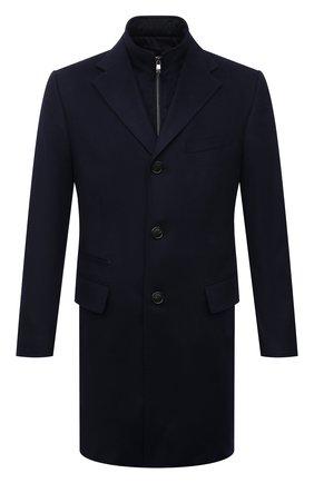 Мужской кашемировое пальто CORNELIANI темно-синего цвета, арт. 881581-1812097/00 | Фото 1