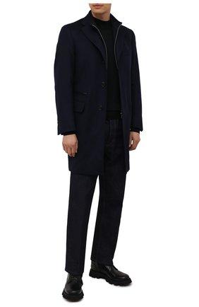 Мужской кашемировое пальто CORNELIANI темно-синего цвета, арт. 881581-1812097/00 | Фото 2