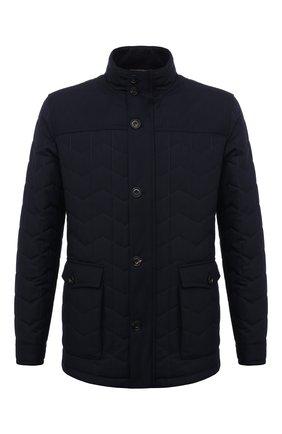 Мужская утепленная куртка CORNELIANI темно-синего цвета, арт. 8825G2-1820150/00 | Фото 1