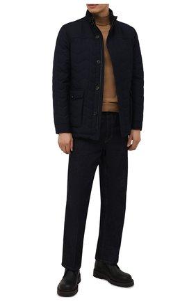 Мужская утепленная куртка CORNELIANI темно-синего цвета, арт. 8825G2-1820150/00 | Фото 2