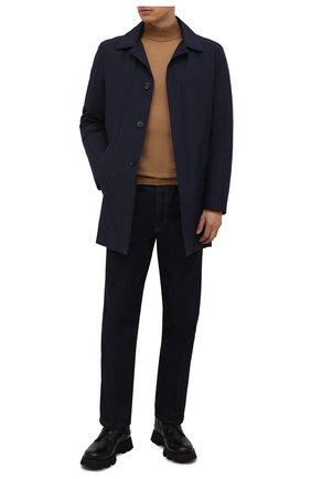 Мужской утепленный плащ CORNELIANI темно-синего цвета, арт. 8835L2-1820149/00 | Фото 2