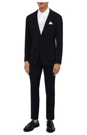 Мужские шерстяные брюки CORNELIANI темно-синего цвета, арт. 884702-1818400/00 | Фото 2