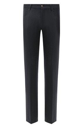 Мужские шерстяные брюки CORNELIANI темно-серого цвета, арт. 884702-1818400/00 | Фото 1