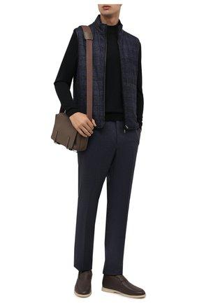 Мужские шерстяные брюки CORNELIANI темно-синего цвета, арт. 885B01-1818111/02 | Фото 2