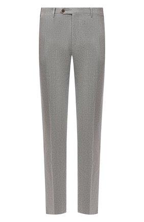 Мужские шерстяные брюки CORNELIANI серого цвета, арт. 885B01-1818111/02 | Фото 1