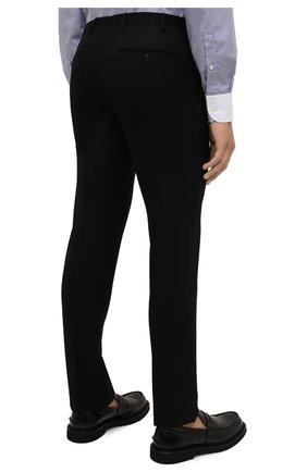 Мужские шерстяные брюки CORNELIANI черного цвета, арт. 885B01-1818111/02   Фото 4 (Материал внешний: Шерсть; Длина (брюки, джинсы): Стандартные; Стили: Классический; Случай: Формальный; Материал подклада: Вискоза)