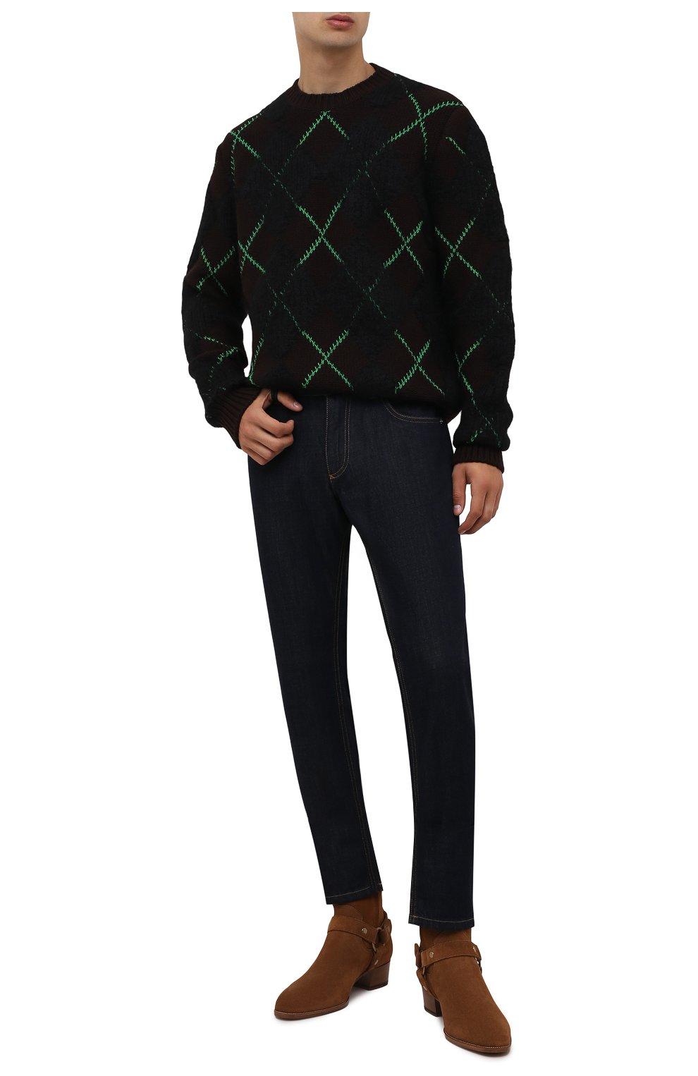 Мужские замшевые сапоги wyatt SAINT LAURENT светло-коричневого цвета, арт. 443190/BPN00 | Фото 2 (Материал внутренний: Натуральная кожа; Мужское Кросс-КТ: Казаки-обувь, Сапоги-обувь; Подошва: Плоская; Материал внешний: Замша)