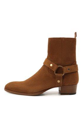 Мужские замшевые сапоги wyatt SAINT LAURENT светло-коричневого цвета, арт. 443190/BPN00 | Фото 3 (Материал внутренний: Натуральная кожа; Мужское Кросс-КТ: Казаки-обувь, Сапоги-обувь; Подошва: Плоская; Материал внешний: Замша)