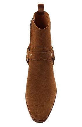 Мужские замшевые сапоги wyatt SAINT LAURENT светло-коричневого цвета, арт. 443190/BPN00 | Фото 5 (Материал внутренний: Натуральная кожа; Мужское Кросс-КТ: Казаки-обувь, Сапоги-обувь; Подошва: Плоская; Материал внешний: Замша)