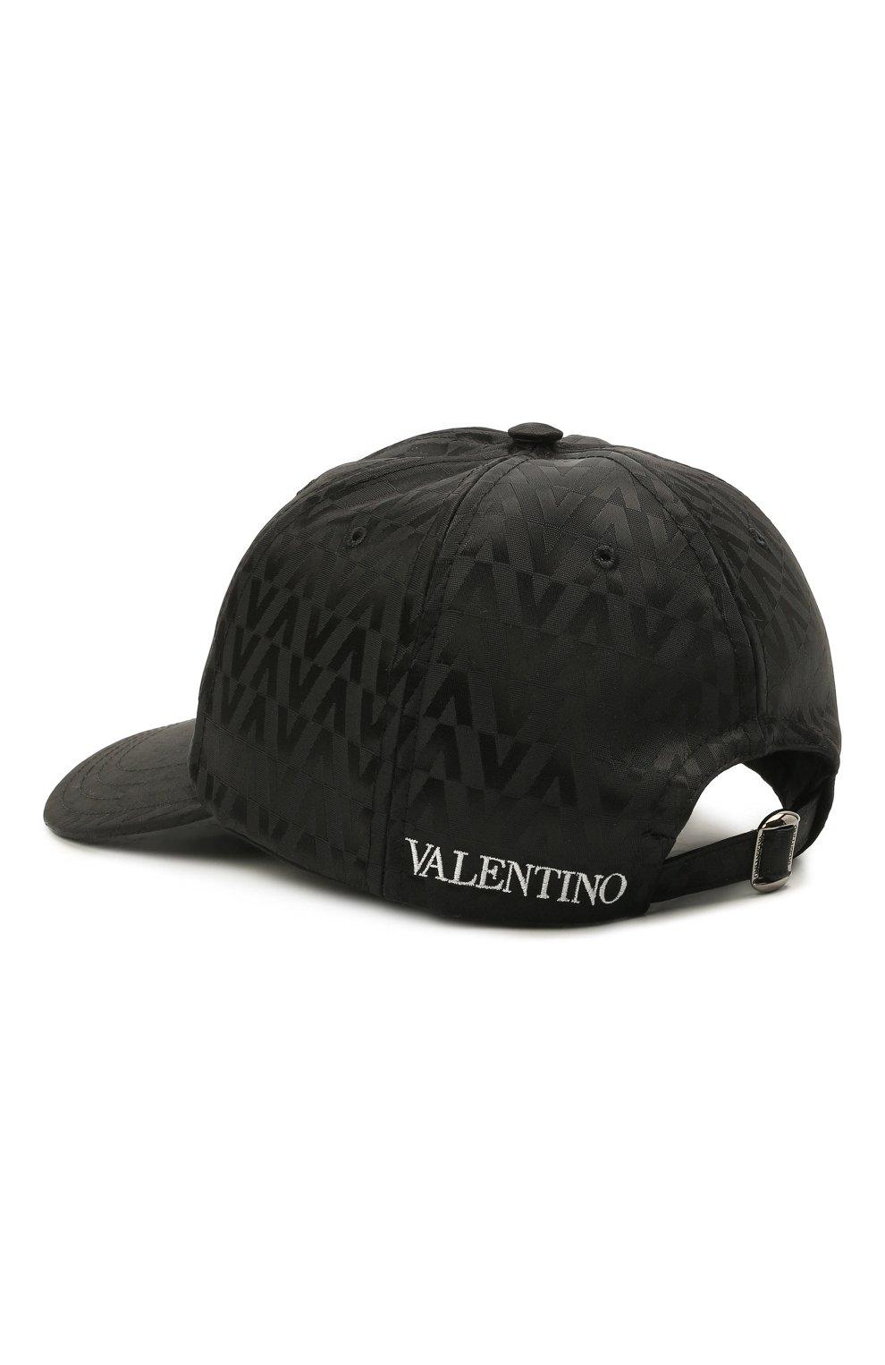 Мужской бейсболка VALENTINO черного цвета, арт. WY2HDA10/MCA   Фото 3 (Материал: Текстиль, Синтетический материал)