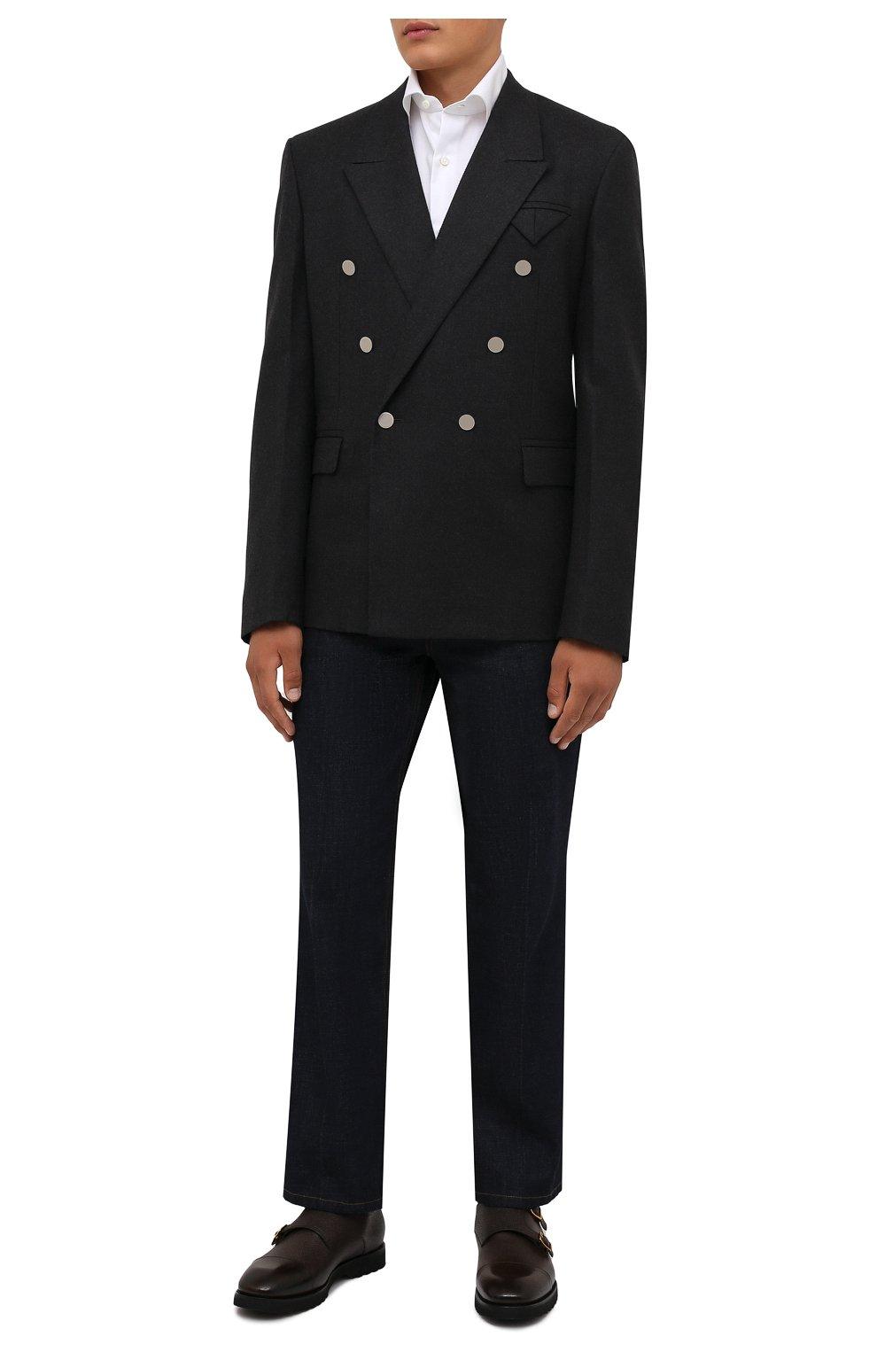 Мужские кожаные монки TOM FORD темно-коричневого цвета, арт. J1245L-LCL093   Фото 2 (Материал внутренний: Натуральная кожа; Стили: Классический)