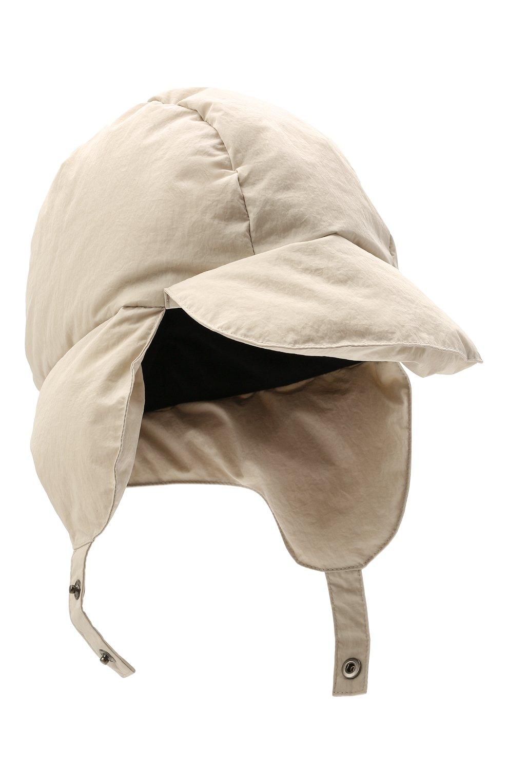 Детского утепленная шапка-ушанка IL GUFO серого цвета, арт. A21E0219N0072 | Фото 1 (Материал: Текстиль, Синтетический материал)