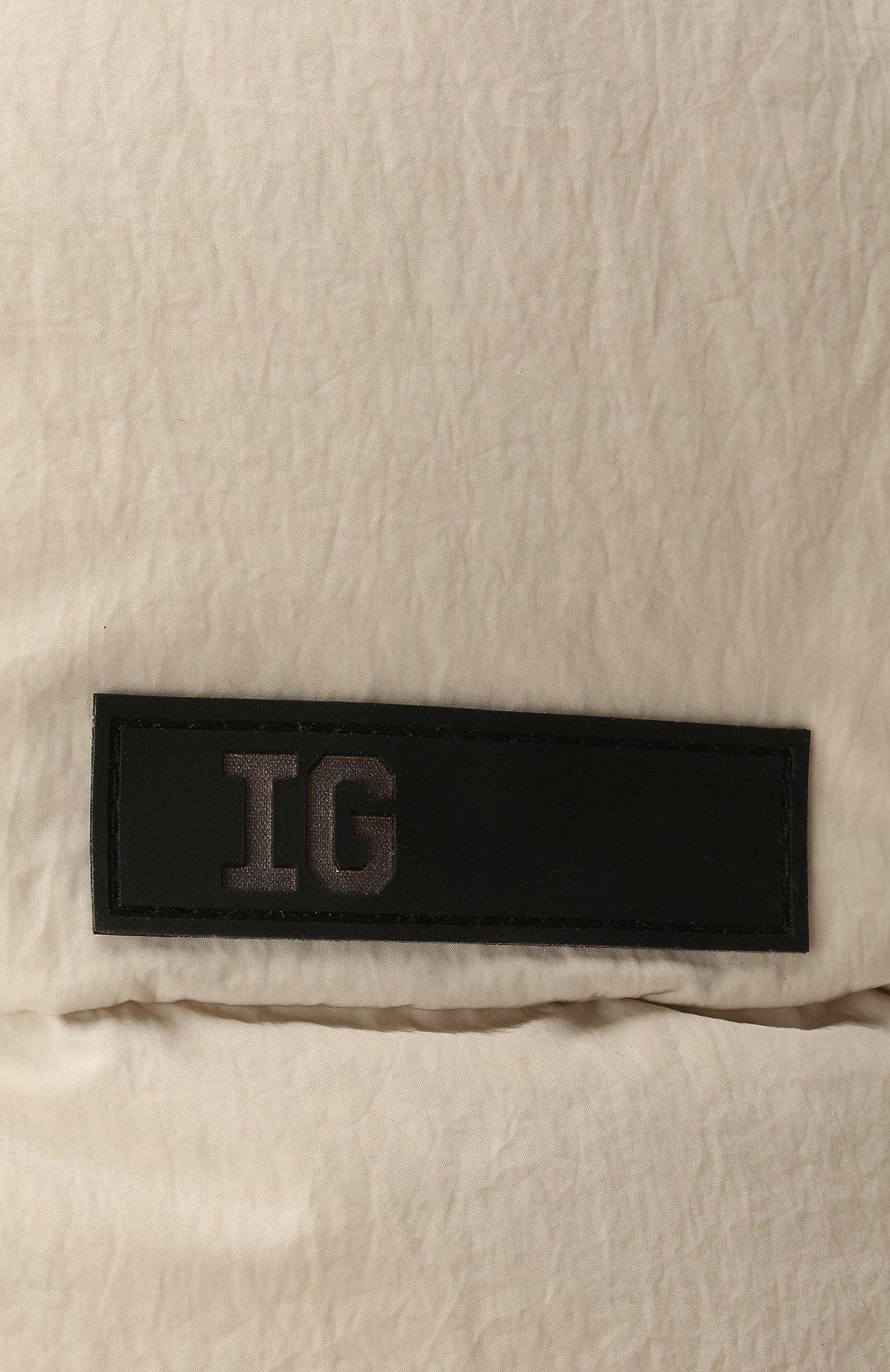 Детского утепленная шапка-ушанка IL GUFO серого цвета, арт. A21E0219N0072 | Фото 3 (Материал: Текстиль, Синтетический материал)
