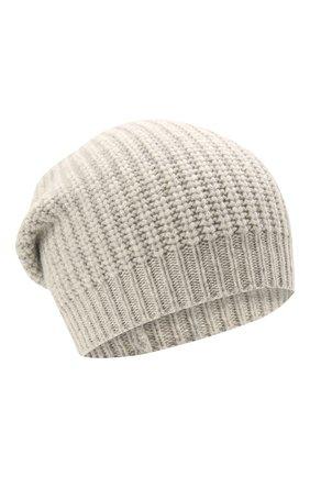 Детского кашемировая шапка BRUNELLO CUCINELLI светло-серого цвета, арт. B52M50299A | Фото 1