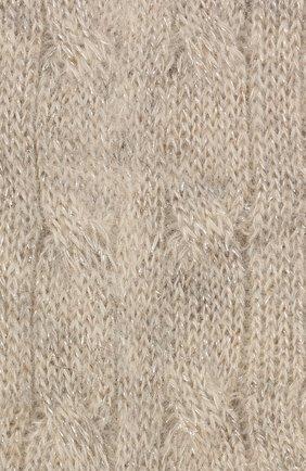 Детские носки BRUNELLO CUCINELLI кремвого цвета, арт. BBGM70479A   Фото 2 (Материал: Текстиль, Синтетический материал, Шерсть)