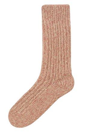 Детские кашемировые носки BRUNELLO CUCINELLI розового цвета, арт. BBJM51299A   Фото 1 (Материал: Кашемир, Шерсть)