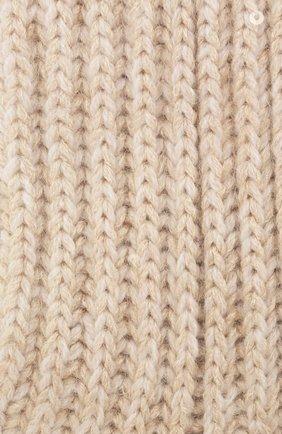 Детские кашемировые носки BRUNELLO CUCINELLI бежевого цвета, арт. BBJM51299A   Фото 2 (Материал: Шерсть, Кашемир)