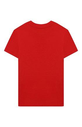 Детская хлопковая футболка POLO RALPH LAUREN красного цвета, арт. 321844820 | Фото 2
