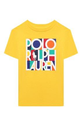 Детская хлопковая футболка POLO RALPH LAUREN желтого цвета, арт. 321844820 | Фото 1