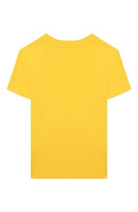 Детская хлопковая футболка POLO RALPH LAUREN желтого цвета, арт. 321844820 | Фото 2