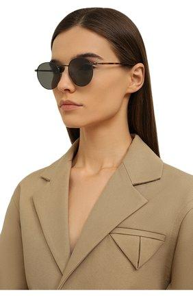 Женские солнцезащитные очки LORO PIANA серого цвета, арт. FAI4924 | Фото 2 (Тип очков: С/з; Очки форма: Круглые)