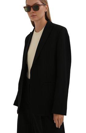Женские солнцезащитные очки LORO PIANA светло-коричневого цвета, арт. FAI4927   Фото 2 (Тип очков: С/з; Очки форма: Прямоугольные; Оптика Гендер: оптика-женское)