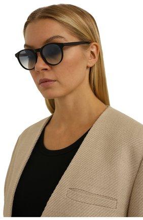 Женские солнцезащитные очки LORO PIANA черного цвета, арт. FAL0261   Фото 2 (Тип очков: С/з)